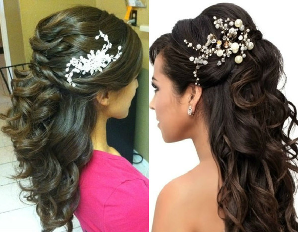 Indian Bridal Reception Hairstyles 600x467